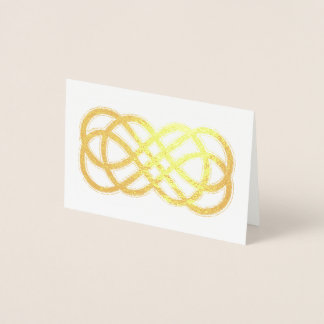 Celtic Neverending Knot - blank inside Foil Card