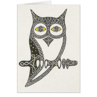 Celtic Owl Card