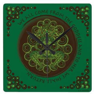 Celtic Pagan Fertility Goddess Clock