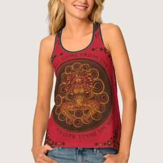 Celtic Pagan Fertility Goddess In Red Tank Top