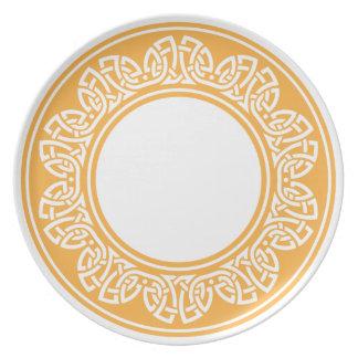 celtic pattern plate