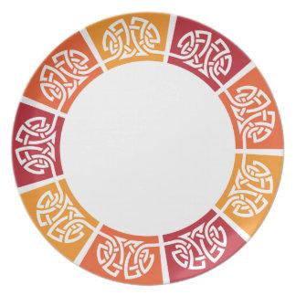 celtic pattern plates