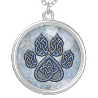 Celtic Paw Blue Necklace