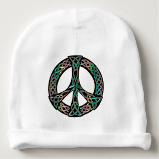 Celtic Peace - Celtic Knot Peace Sign Baby Beanie