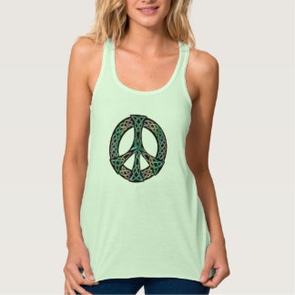 Celtic Peace - Celtic Knot Peace Sign Tank Top