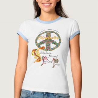Celtic Peace Sign with Latin Quote and Irish Tshirt