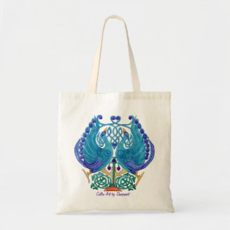 Celtic Peacocks Budget Tote Bag