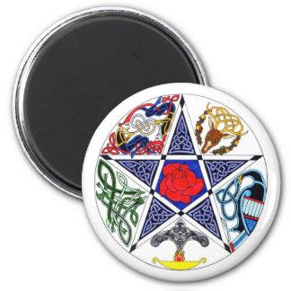 Celtic Pentagram 2 Inch Round Magnet