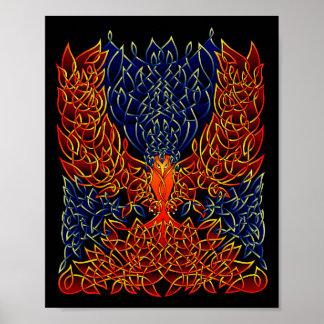 Celtic Phoenix Poster