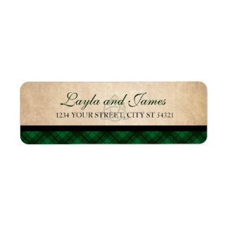 Celtic Plaid Address Labels