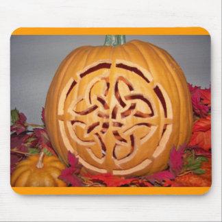 Celtic pumpkin carving mouse pad