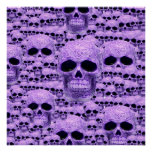 Celtic purple skull collage poster