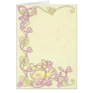 Celtic Rabbit Greeting Card