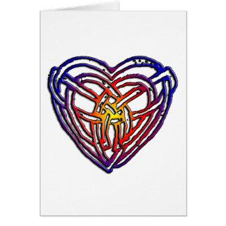 Celtic Rainbow Heart Card