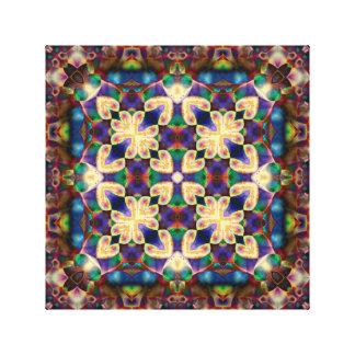Celtic Rainbow Heart Stained Glass Mandala Canvas Print