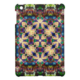 Celtic Rainbow Heart Stained Glass Mandala Cover For The iPad Mini