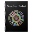 Celtic Rainbow Zodiac Mandala Notebook