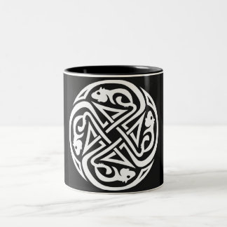 Celtic Rats Circle Two-Tone Coffee Mug