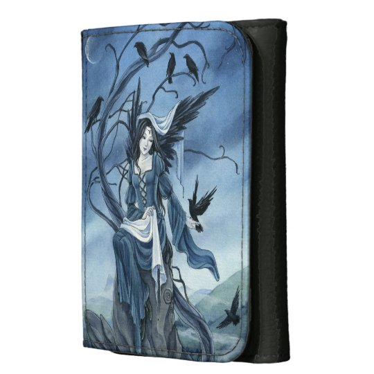 Celtic Raven Angel wallet by Meredith Dillman