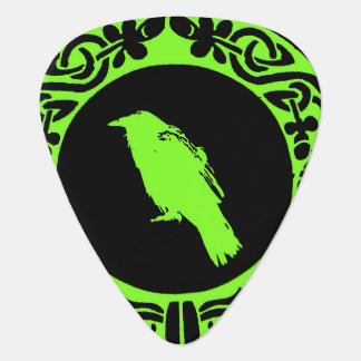 Celtic raven guitar pick