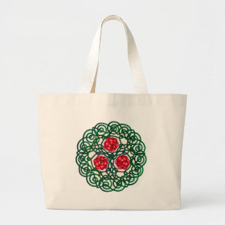 Celtic Roses Red Large Tote Bag