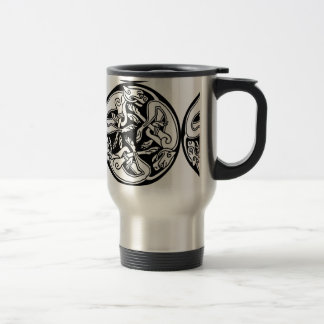 Celtic Round Dogs Travel Mug