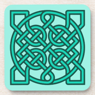 Celtic Sailor's Knot, Turquoise, Aqua and Teal Coaster