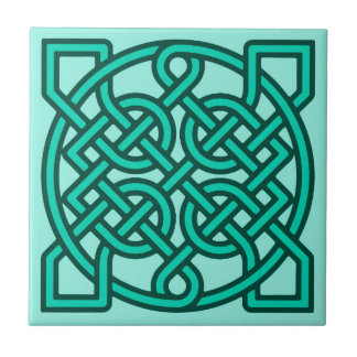 Celtic Sailor's Knot, Turquoise, Aqua and Teal Tile