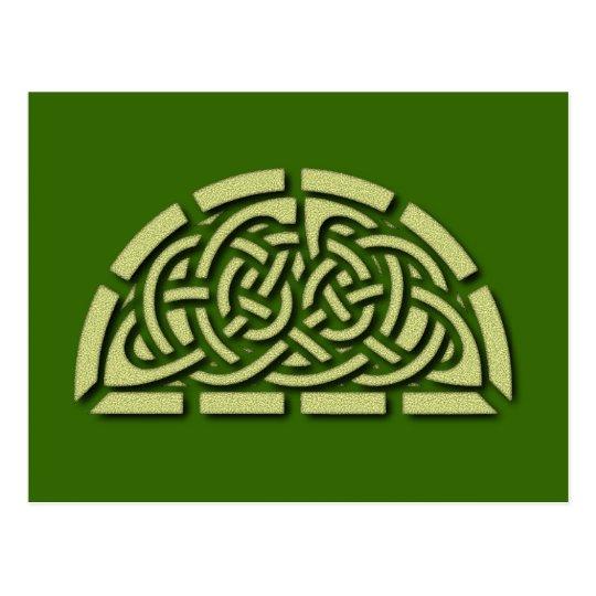Celtic sample celtic pattern postcard