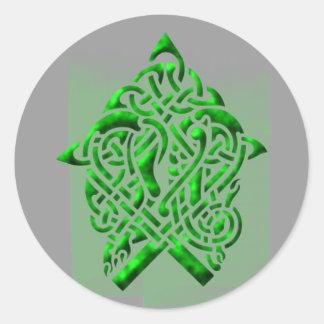 Celtic sample celtic pattern round stickers