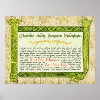 Celtic Sampler Poster
