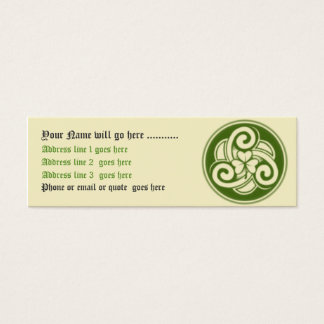 Celtic Shamrock Business Card