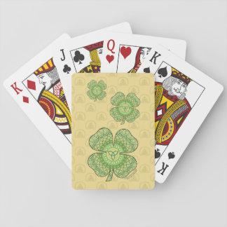 Celtic Shamrock Classic Playing Cards