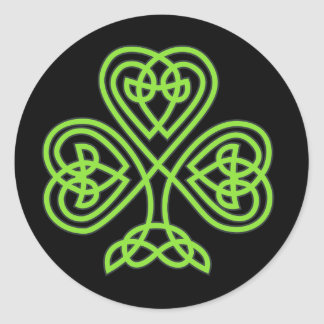 Celtic Shamrock Classic Round Sticker