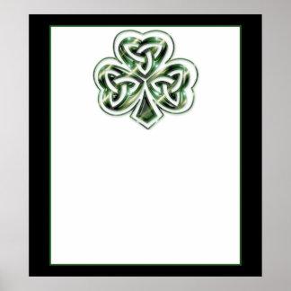 Celtic Shamrock Design 2  Poster/Print 2 Poster