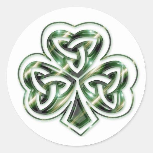 Celtic Shamrock :: Green Space Design Stickers