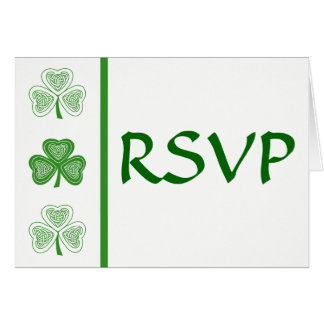 Celtic Shamrock Irish Wedding RSVP Card