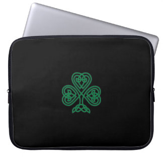 Celtic Shamrock Laptop Sleeve