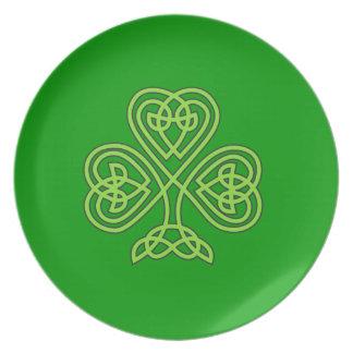 Celtic Shamrock Plates