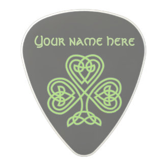 Celtic Shamrock Polycarbonate Guitar Pick