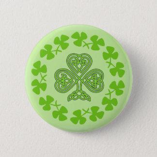 Celtic Shamrock St. Patricks Day design buttons