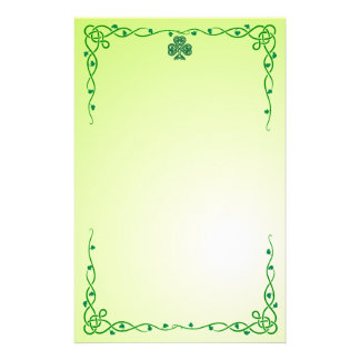 celtic shamrock stationary stationery paper