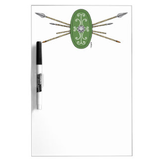 Celtic Shield and Spears Dry Erase Board