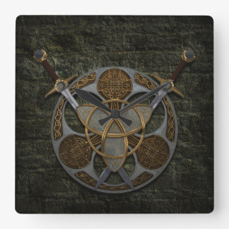 Celtic Shield and Swords Wallclock