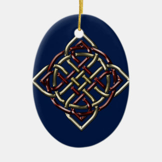 Celtic Shield Knot Ceramic Oval Ornament