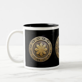 Celtic Shield Two-Tone Coffee Mug