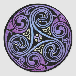 Celtic Spiral #1 Classic Round Sticker