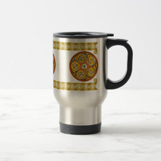 Celtic Spiral Art Mugs, Lughnasadh Design #2 Travel Mug
