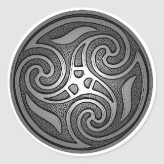Celtic Spiral Classic Round Sticker