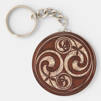 Celtic Spiral design #2v2 Keychain